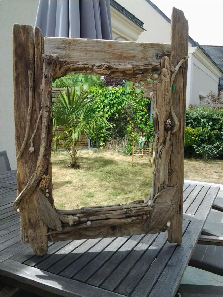 Bois Flotté Pour Pergola c'line grand miroir en bois flotté de loire |